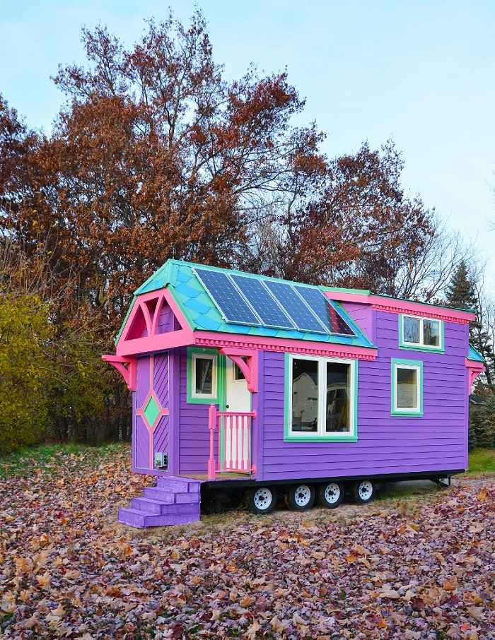 wow this may be the most colorful tiny house i have ever seen tiny houses. Black Bedroom Furniture Sets. Home Design Ideas