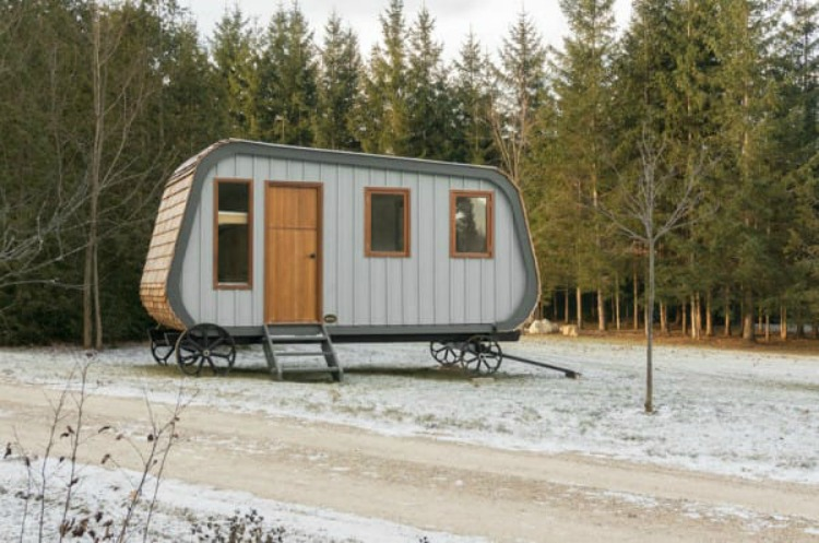 The Shepherd's Hut: a Rustic Tiny House on Wheels Designed for You