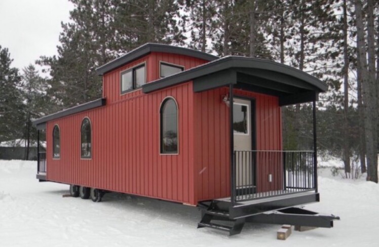Tiny Home Designs: Caboose Transformed Into A Tiny House. Check Out How This