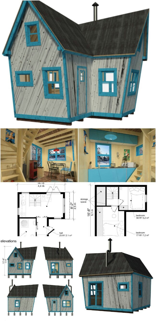 25 plans to build your own fully customized tiny house on for Building a house on a budget