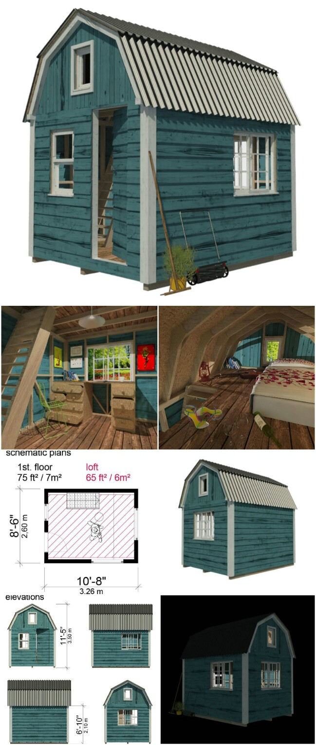 Sonja tiny cabin plans