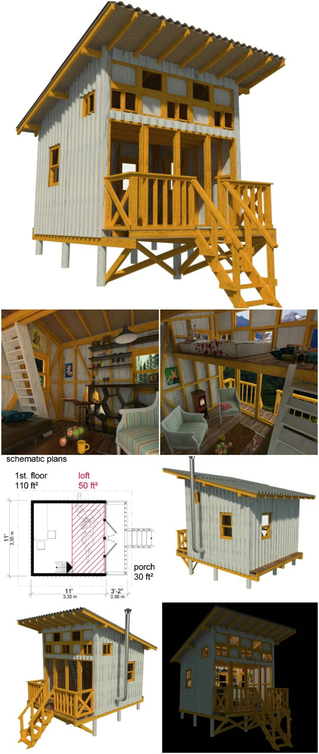 25 plans to build your own fully customized tiny house on for Building a cottage on a budget