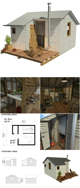 Gina tiny cabin plans