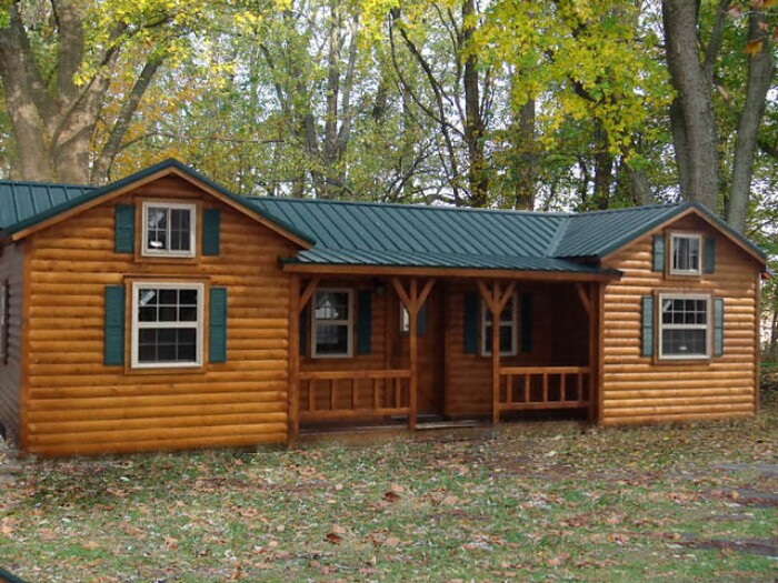 7 Beautiful Modular Log Cabins From Amish Cabin Company