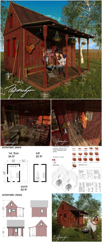 Marilyn tiny cabin plans