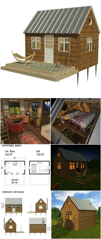 Caroll tiny cabin plans
