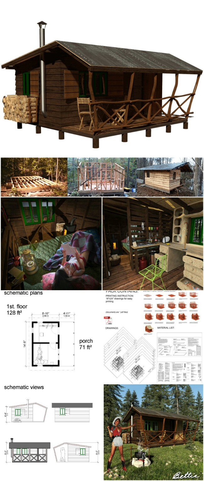 Bettie tiny cabin plans