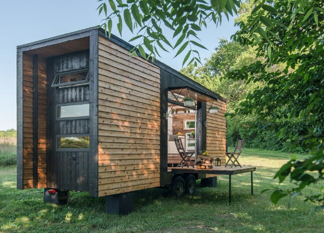 The Alpha Tiny House: You Can See Right Through This Tiny House!