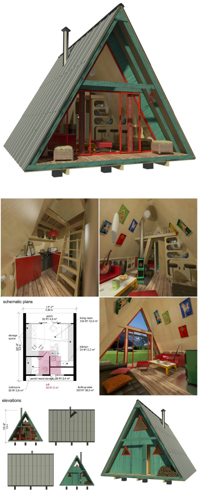 25 plans to build your own fully customized tiny house on for Small a frame home plans