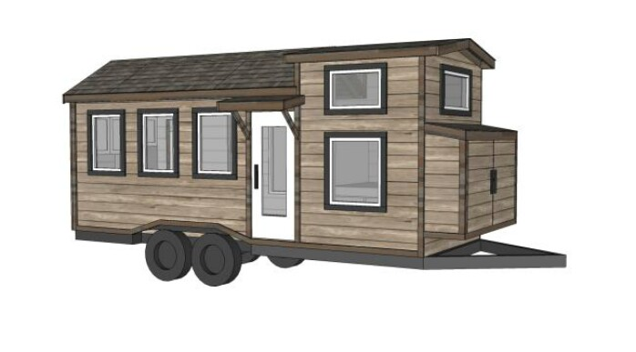 this 24 foot tiny house is just gorgeous and the plans