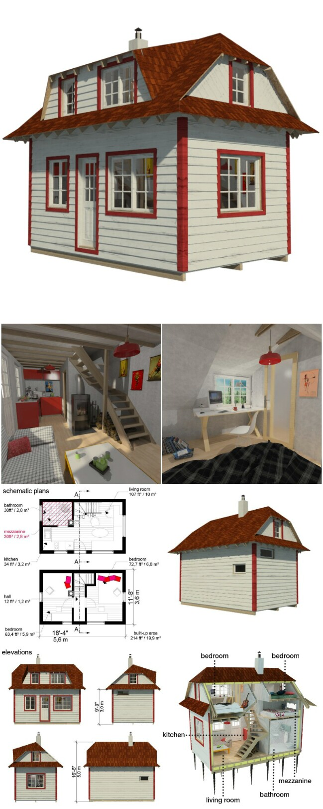 25 plans to build your own fully customized tiny house on a budget tiny houses. Black Bedroom Furniture Sets. Home Design Ideas