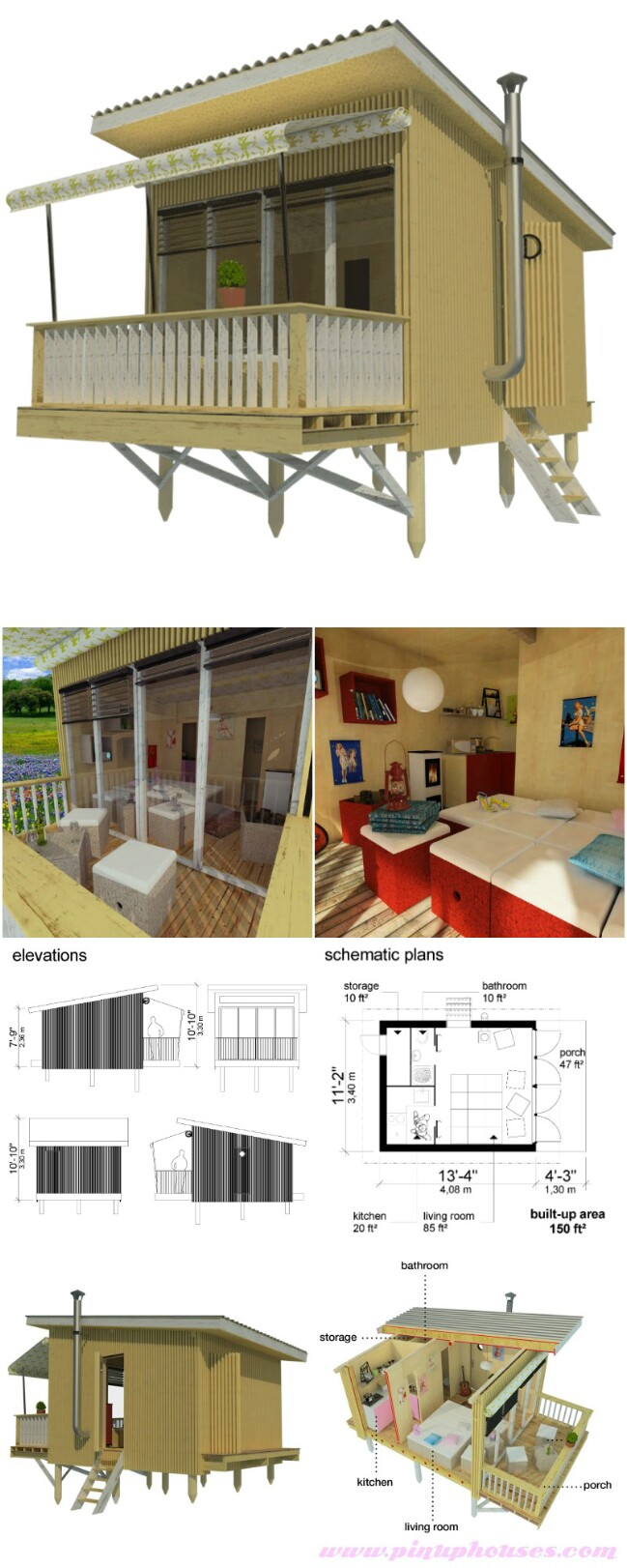 25 plans to build your own fully customized tiny house on for Homes on budget com