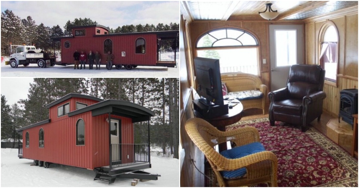 Caboose Transformed Into A Tiny House Check Out How This