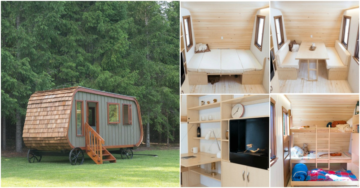 Tiny Home Designs: The Shepherd's Hut: A Rustic Tiny House On Wheels Designed