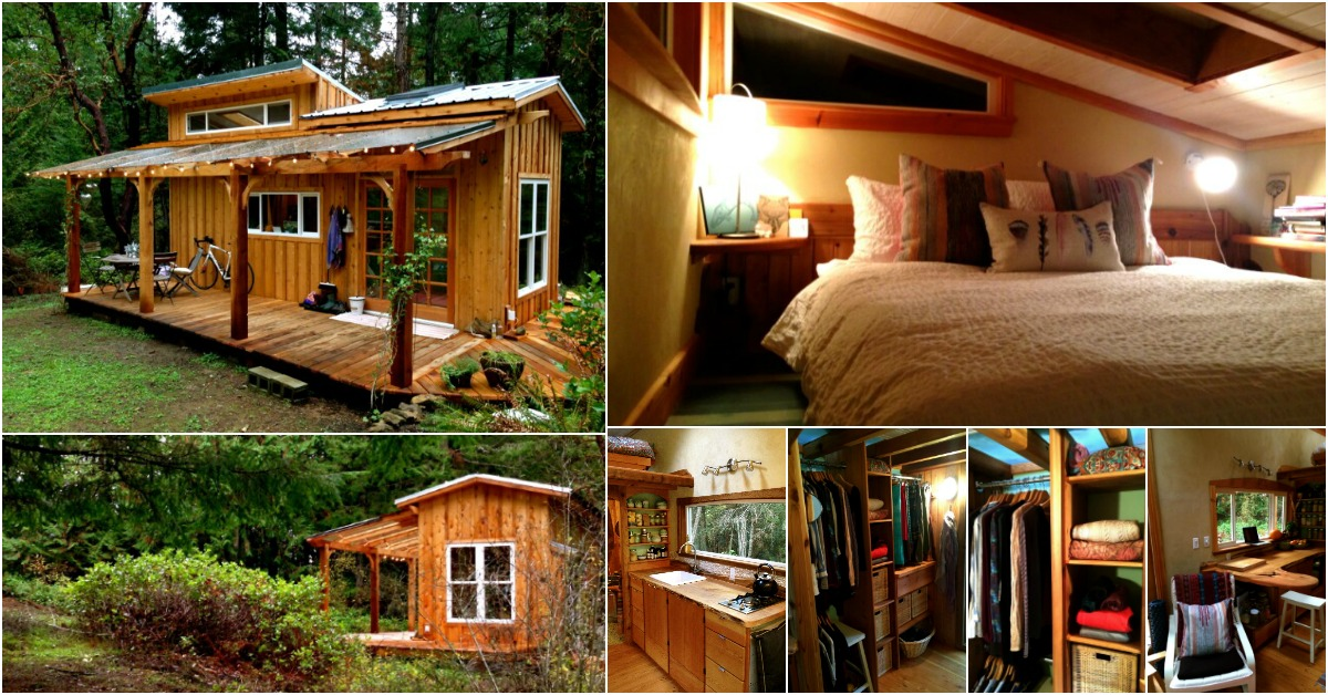 Tiny Mountain Houses Location: Tiny House Tour: Perfectly Rustic Tiny Mountain Log Cabin
