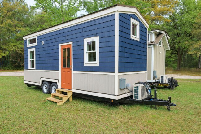 Bold Contrast And Vivid Colors Make This Tiny House An