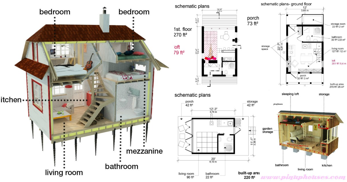 25 plans to build your own fully customized tiny house on a budget tiny houses Build your own house floor plans