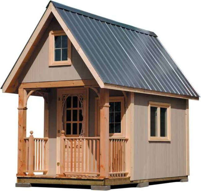 Completely Free 108 Sq. Ft. Cottage Wood Cabin Plans - Tiny Houses