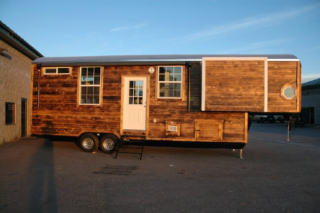 Young Couples Custom Tiny Home is Popping Out of its Seams Tiny