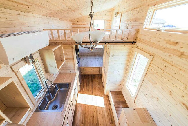 The Roanoke From Tumbleweed Tiny Houses is a Rustic Dream Home
