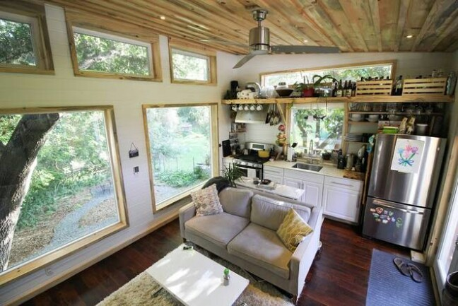 Young Couple Builds a Baby Friendly 400 Square Foot Tiny House {13 Photos}
