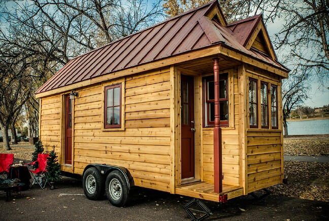 Rustic Elegance by Tumble Weed Tiny Houses Featuring an Unique Hidden Surprise