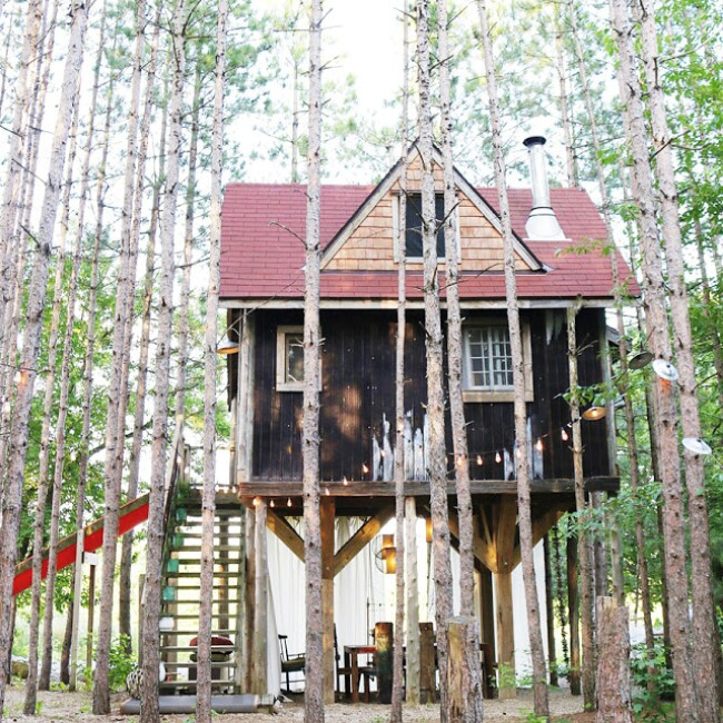 Rustic Tiny Treehouse Rental Business Provides a Second Income Stream to Owners