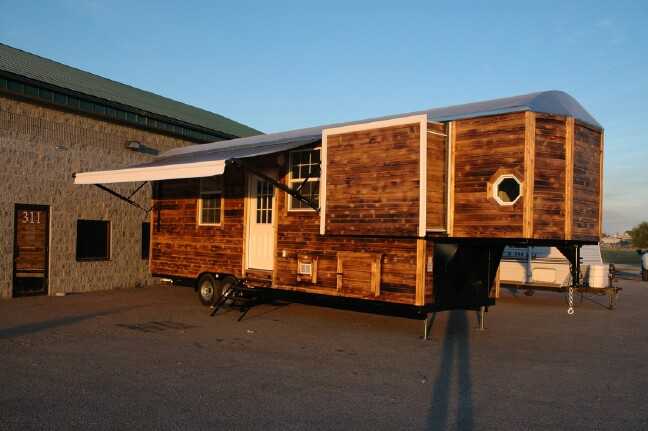 Young Couple's Custom Tiny Home is Popping Out of its Seams