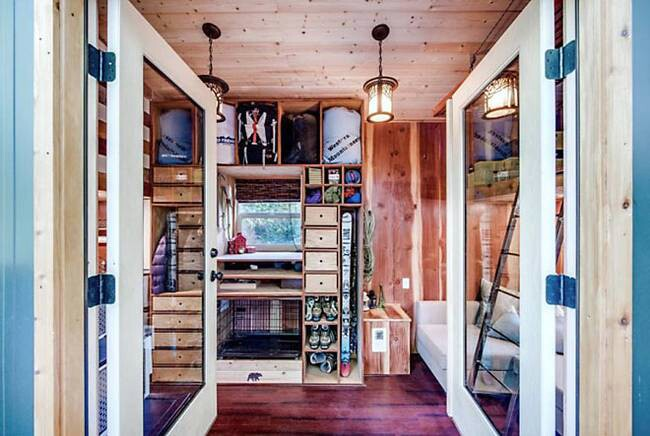 """Mountain Climbing Couple Builds """"Basecamp"""" Tiny Home Complete With Alpine Accents {15 Photos}"""