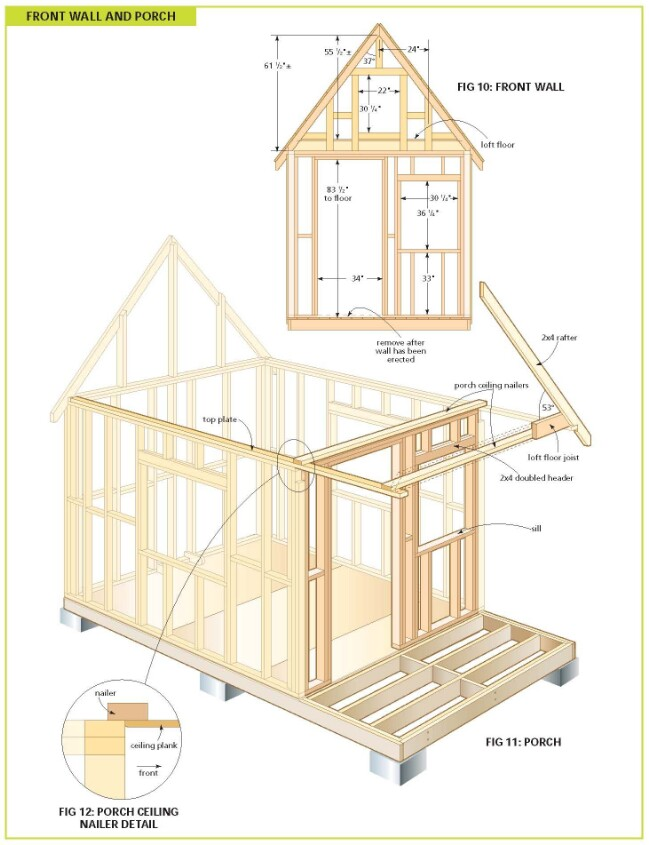 Free a frame house plans with loft Small building plan