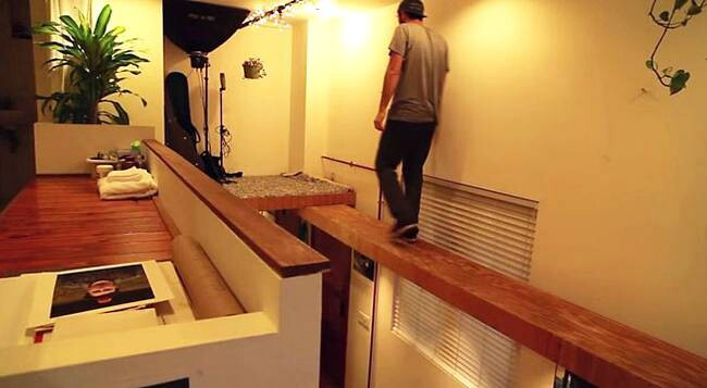 Micro-Apartment by Fort Design Build Includes a Built-In Catwalk