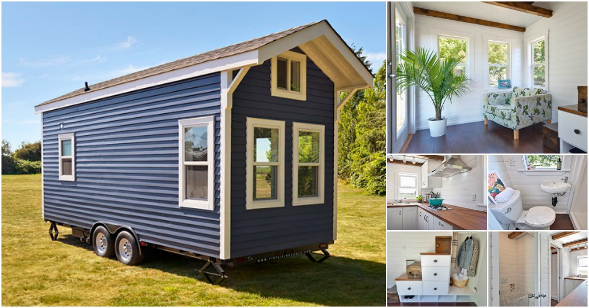 this tiny house is full of character charm and more look inside tiny houses. Black Bedroom Furniture Sets. Home Design Ideas