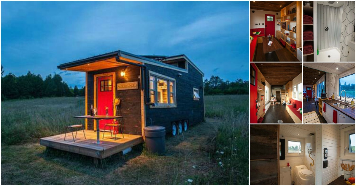 Tiny Home Designs: Wow! This Canadian Tiny House Has Its Own Drawbridge {12