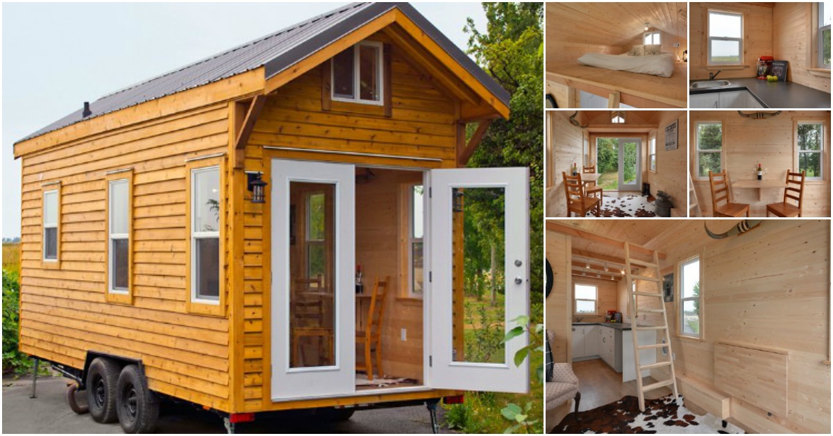 Escape to the woods in this adorable cabin by mint tiny for House company
