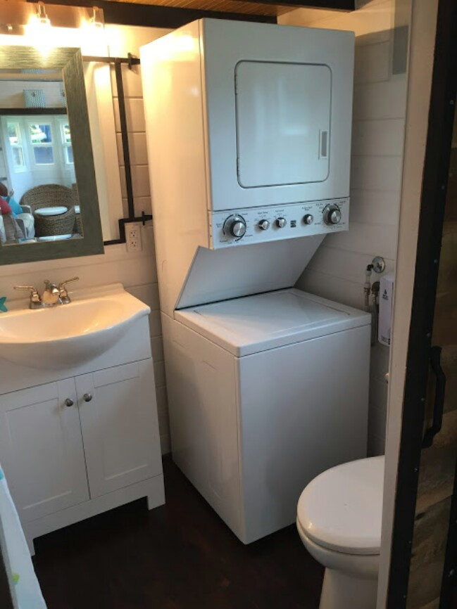 Tiny House Hunters Fans Build Their Own 280 Sq Ft Tiny Mansion - tiny house washer dryer