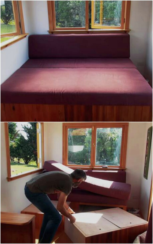 Use modules to create an expandable guest bed.