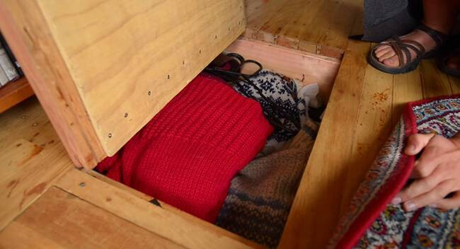Hide more storage under the floorboards.