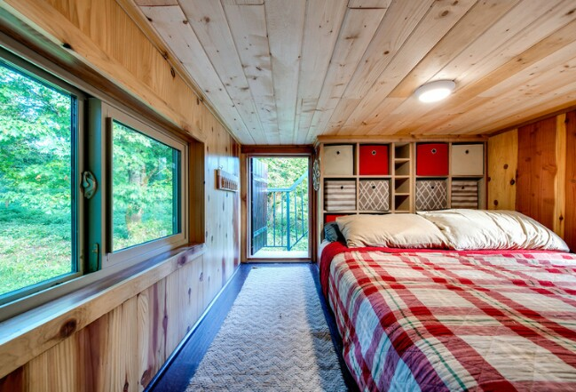 Utilize floor-to-ceiling storage.