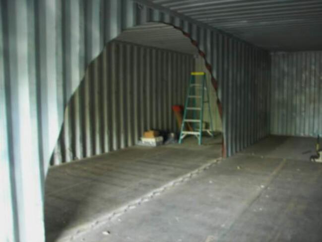 Oklahoma shipping container hunter cabin