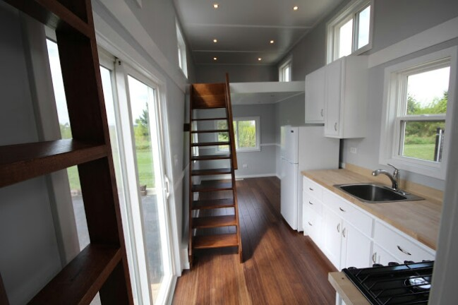 This tiny house has amazing high end features and it s for for High end tiny house