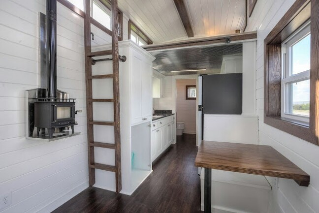 Shipping Container Transformed Into a Beautifully Rustic Tiny House {12 Photos}