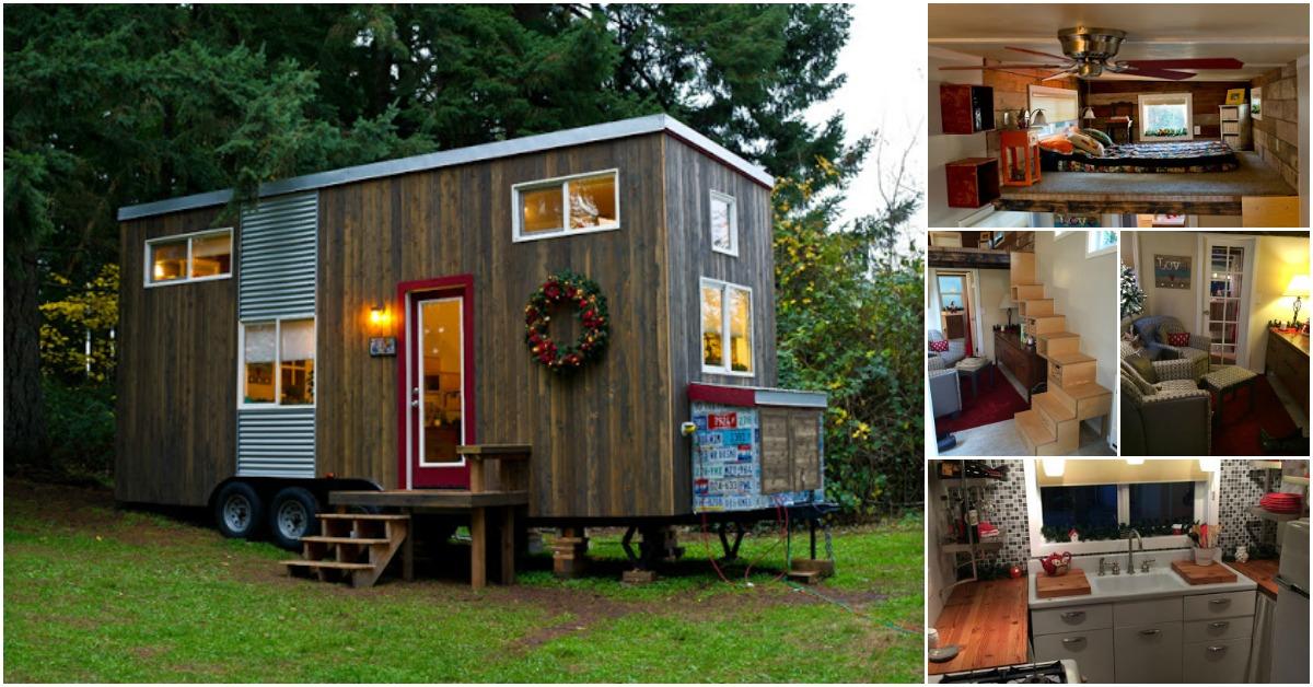 Tiny Home Designs: Empty Nester Builds Her Dream Tiny House {Tiny Home Tour