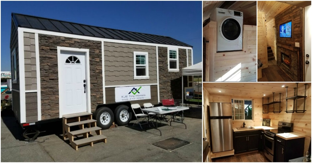 kje tiny homes came up with an unique high end 264 sq ft