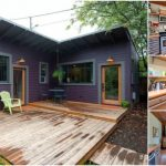 "Brilliantly Clever ""L"" Shaped Purple Tiny House in Portland"