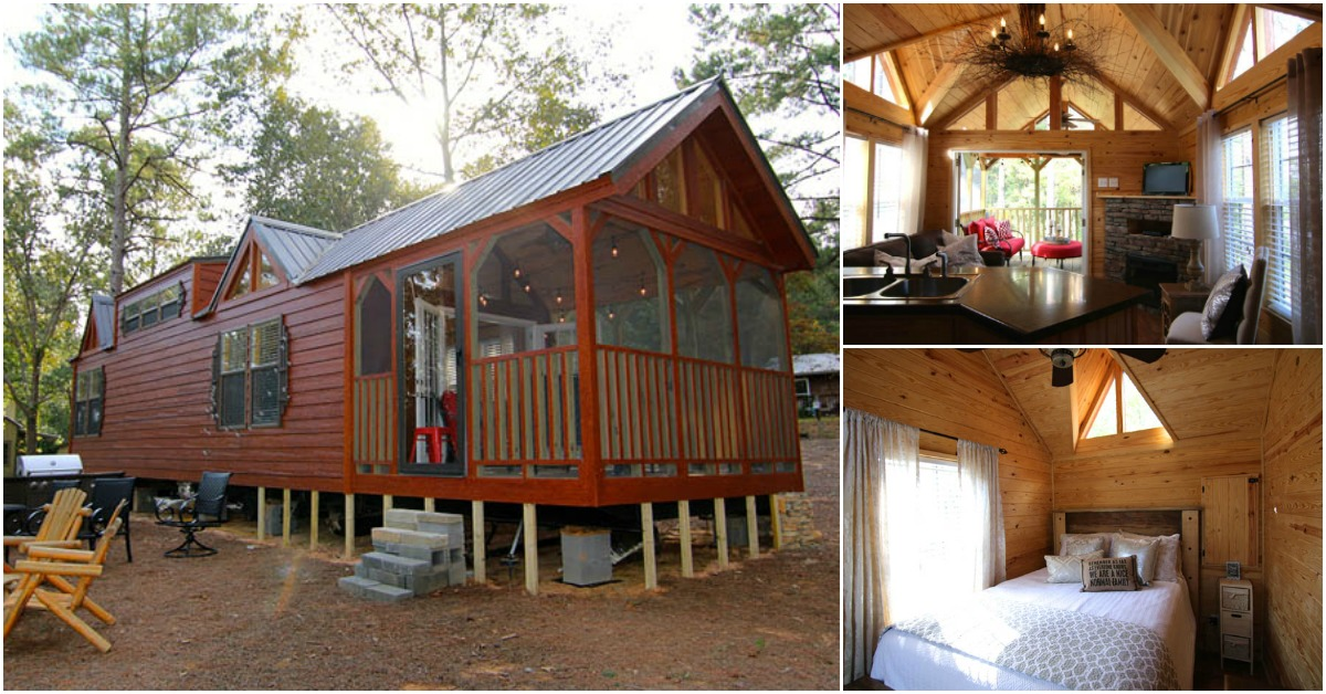 Tiny Home Designs: This Rustic Cabin In Alabama Takes Tiny Living To A New