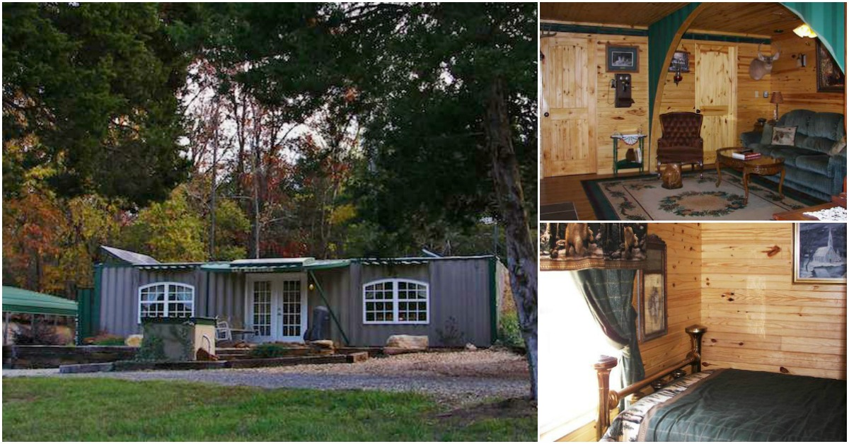 Oklahoma man makes off grid retreat from shipping containers tiny houses - Off the grid shipping container homes ...