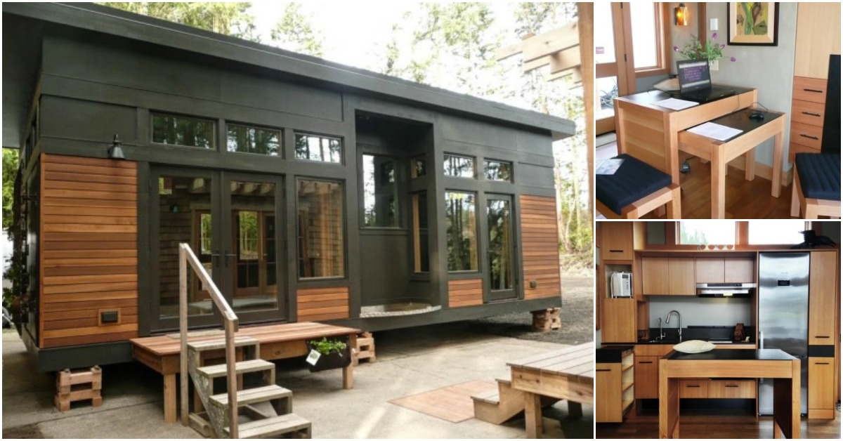 Modern 450 sq ft prefab tiny home by greenpod for 450 square foot house