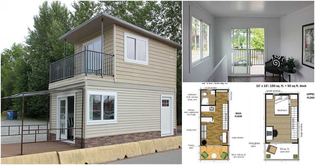 This modular tiny house can be delivered to you fully for Tiny home floor plans free