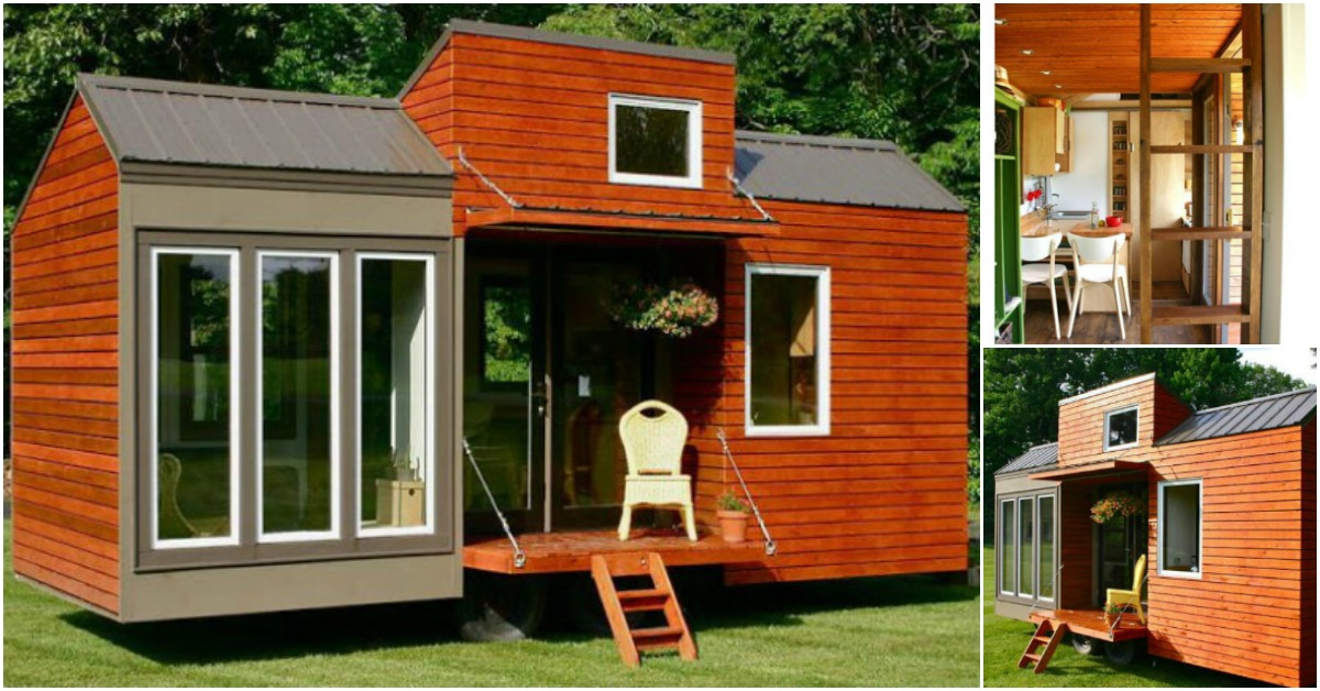 Tiny Home Design Plans: This 130 Square Feet House May Be Tiny But It's Tall, Too