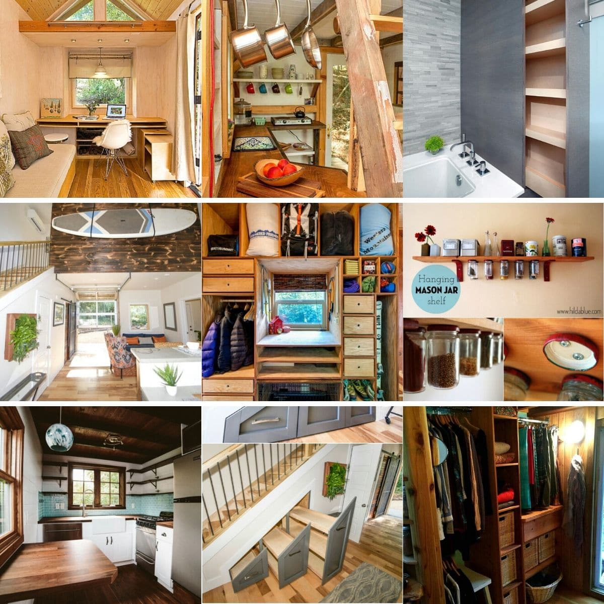 40 Tiny House Storage and Organizing Ideas for the Entire Home - Tiny Houses